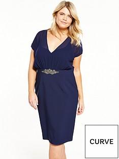 little-mistress-curve-embellished-waistband-v-neck-midi-dress