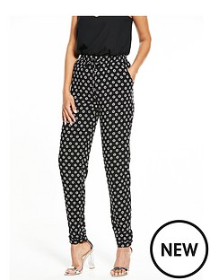 v-by-very-daisy-print-tapered-trousers
