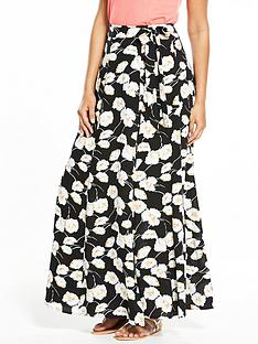 v-by-very-floral-print-wrap-maxi-skirt