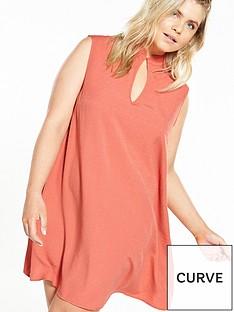 fashion-union-curve-shift-dress-with-keyhole