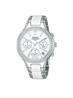 pulsar-white-dial-chronograph-swarovski-element-bezel-ladies-bracelet-watch