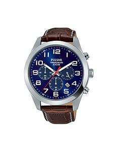 pulsar-pulsar-blue-dial-chronograph-brown-leather-strap-mens-watch