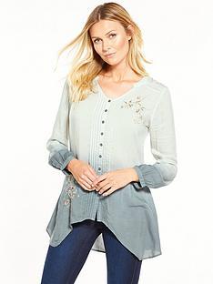 joe-browns-delightful-dip-dye-blouse-grey