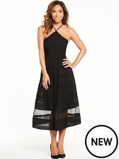 myleene-klass-organza-midi-dress-black