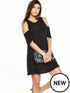 v-by-very-cold-shoulder-frill-rib-dress-black