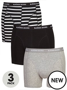 bjorn-borg-3pk-stripeplain-trunks