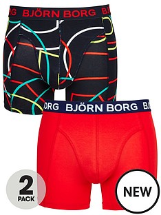 bjorn-borg-2pk-patternplain-trunks