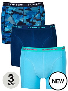 bjorn-borg-3pk-plaincamo-trunks