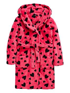 V by Very Love Heart Dressing Gown | littlewoodsireland.ie