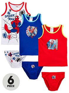 spiderman-spiderman-boys-6-piece-vest-and-brief-set