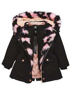 mini-v-by-very-girls-multi-pink-fur-lined-black-parka