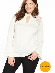 v-by-very-curve-long-sleeve-key-hole-lace-top