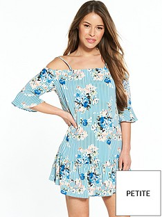v-by-very-petite-cold-shoulder-woven-dress