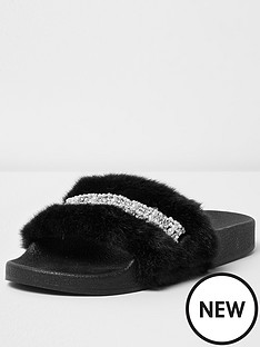 river-island-river-island-ally-2-fur-slide-black-with-gems