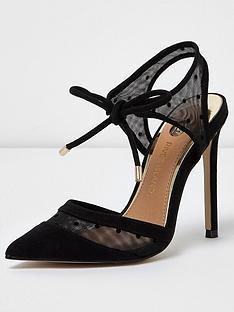 river-island-black-fabric-court-shoe