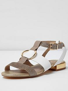 river-island-river-island-mixed-material-sandal-with-ring-detail