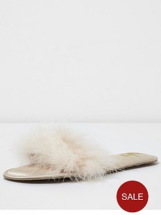 river-island-cream-fur-slipper