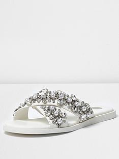 river-island-river-island-cross-strap-embellished-slider