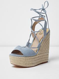 river-island-pebble-tie-up-wedge-sandal