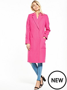 v-by-very-hot-pink-longline-coat