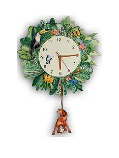 arthouse-jungle-mania-wooden-clock