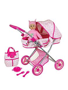 lissi-doll-pram-13inch-33cms-baby-doll-gift-set