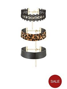 v-by-very-3-packnbspmulti-leopard-choker-set