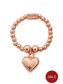 chlobo-sterling-silver-rose-gold-mini-puffed-heart-ring