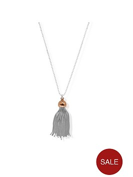 chlobo-sterling-silver-diamond-cut-chain-with-rose-capped-tassel-pendant-l2