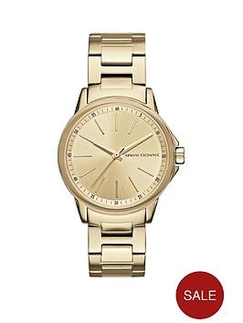 armani-exchange-gold-tone-dial-stainless-steel-bracelet-ladies-watch
