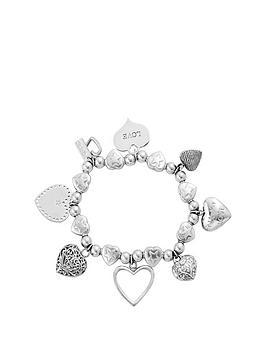 chlobo-sterling-silver-hearts-charm-bracelet