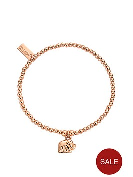 chlobo-sterling-silver-rose-gold-plate-cute-charm-elephant-bracelet
