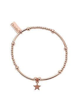 chlobo-sterling-silver-rose-gold-plate-cute-mini-star-bracelet