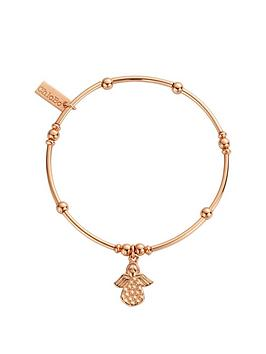 chlobo-sterling-silver-rose-gold-plate-mini-noodle-ball-made-for-an-angel-bracelet