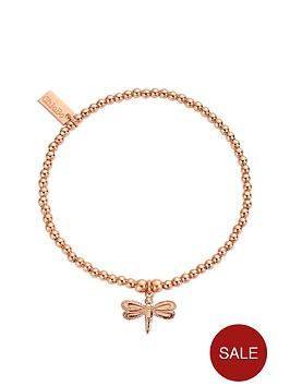 chlobo-sterling-silver-rose-gold-plate-cute-charm-dragonfly-bracelet