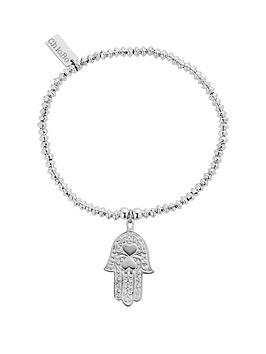chlobo-sterling-silver-mini-disc-hamsa-hand-bracelet