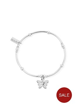 chlobo-sterling-silver-mini-noodle-ball-butterfly-bracelet