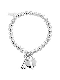 chlobo-sterling-silver-small-ball-lock-amp-key-bracelet