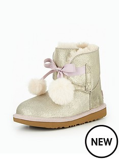 ugg-classic-gita-metallic-kids-boot-gold