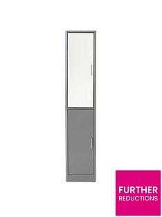lloyd-pascal-luna-hi-gloss-2-door-mirrored-bathroom-tallboy-grey