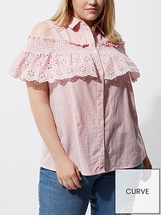 ri-plus-cold-shoulder-stripe-shirt