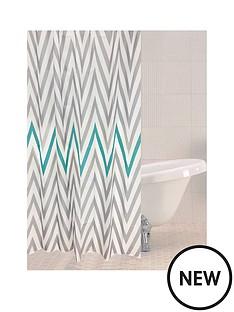 sabichi-chevron-shower-curtain