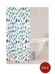 sabichi-blue-poppy-shower-curtain