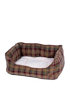 petface-country-check-square-bed