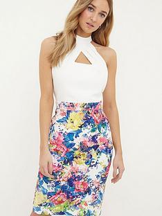paper-dolls-halter-printed-detail-skirt-dress