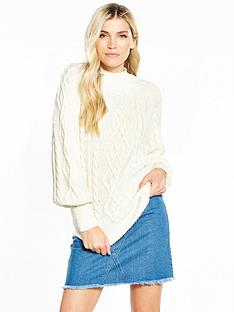 v-by-very-cable-blouson-sleeve-jumper