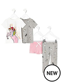 river-island-girls-white-print-pyjama-set-multipack