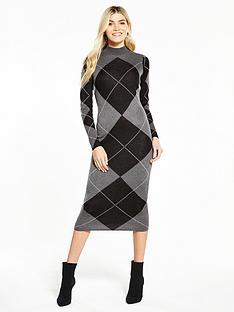 v-by-very-argyle-jacquard-knitted-midi-dress-grey
