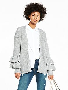 v-by-very-edge-to-edge-tiered-frill-cuff-cardigan