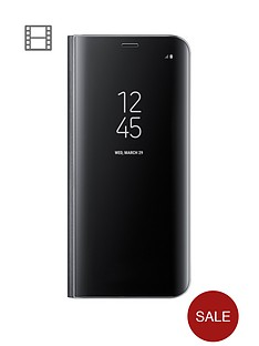 samsung-galaxy-s8-clear-view-stand-cover-case-with-fingerprint-resistant-coatingnbsp--black